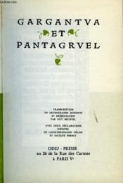 Gargantua Et Pantagruel - Couverture - Format classique