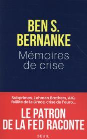 Mémoires de crise - Couverture - Format classique