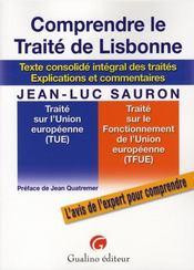 Comprendre le traité de Lisbonne - Intérieur - Format classique