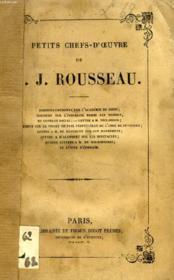 Petits Chefs-D'Oeuvre De J.-J. Rousseau - Couverture - Format classique