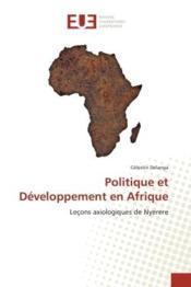 Politique et developpement en afrique - lecons axiologiques de nyerere - Couverture - Format classique
