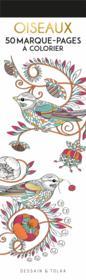 Oiseaux ; 50 marque-pages à colorier - Couverture - Format classique