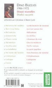 Douze nouvelles ; dodici racconti - 4ème de couverture - Format classique