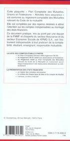 Plan Comptable Des Mutuelles, Unions Et Federations ; Activite Hors Assurance - 4ème de couverture - Format classique