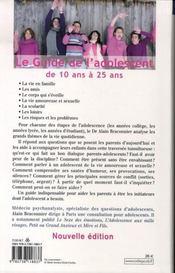 Le guide de l'adolescent de 10 à 25 ans - 4ème de couverture - Format classique