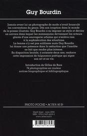 Guy Bourdin - 4ème de couverture - Format classique