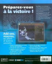 Secrets de world of warcraft - 4ème de couverture - Format classique