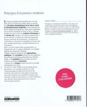 Principes d'economie moderne - 4ème de couverture - Format classique