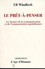 Le Pret-A-Penser - Couverture - Format classique