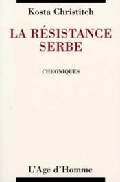 La Resistance Serbe - Couverture - Format classique