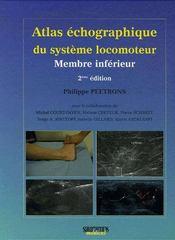 Atlas d'échographie du système locomoteur ; membre inférieur (2e édition) - Couverture - Format classique