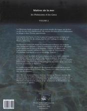 L'Encyclopedie D'Archeologie Sous-Marine T.2 ; Maitres De La Mer ; Les Pheniciens Et Les Grecs - 4ème de couverture - Format classique