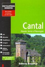 Encyclopedies Regionales ; Cantal ; Hautes Terres D'Auvergne - Intérieur - Format classique