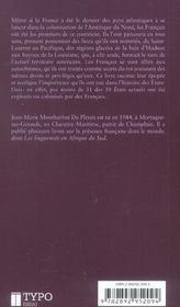Histoire De L'Amerique Francaise - 4ème de couverture - Format classique