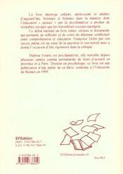 L'Effet Dolto ; Critique Raisonnes Des Travaux De Francoise Dolto - 4ème de couverture - Format classique