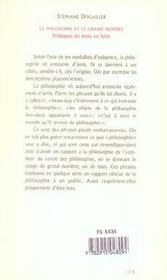 Le Philosophe Et Le Grand Nombre. Politiques Du Texte En Fuite - 4ème de couverture - Format classique