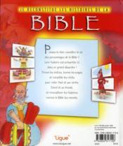 Je reconstitue les histoires de la Bible - 4ème de couverture - Format classique