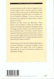 Le Discours Interieur. De Platon A Guillaume D'Ockham - 4ème de couverture - Format classique