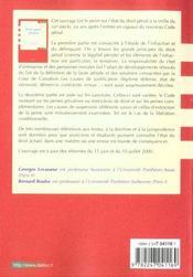 Droit Penal General ; 17e Edition - 4ème de couverture - Format classique