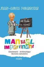 Manuel impertinent - Couverture - Format classique