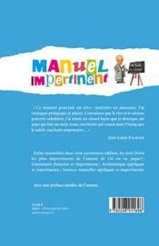 Manuel impertinent - 4ème de couverture - Format classique