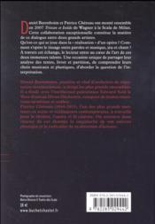 Dialogue sur la musique et le théâtre ; Tristan et Isolde - 4ème de couverture - Format classique