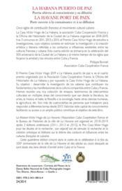 La habana puerto de paz, puerta abierta al conocimiento y su difusión ; la Havane port de paix, porte ouverte à la connaissance et à sa diffusion - 4ème de couverture - Format classique