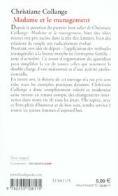 Madame Et Le Management - 4ème de couverture - Format classique