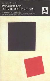 La fin de toutes choses - Intérieur - Format classique