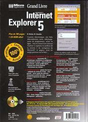 Grand Livre Internet Explorere T.5 - 4ème de couverture - Format classique