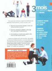 3 Mois Pour Retrouver La Ligne Et La Forme ; Soyez Votre Propre Coach - 4ème de couverture - Format classique