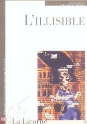 REVUE LA LICORNE N.76 ; l'illisible - Intérieur - Format classique
