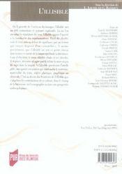 REVUE LA LICORNE N.76 ; l'illisible - 4ème de couverture - Format classique