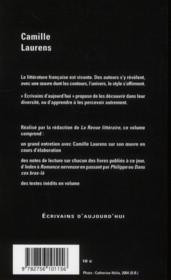 Camille Laurens - 4ème de couverture - Format classique