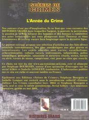 L'Annee Du Crime - 4ème de couverture - Format classique