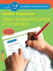 Feuilles d'exercices ; tables de multiplication et de division - Couverture - Format classique
