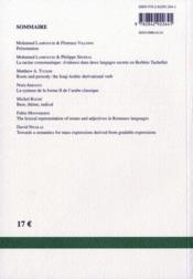 Recherches Linguistiques De Vincennes N.39 ; Racine Et Radical - 4ème de couverture - Format classique