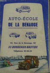 Examen Du Permis De Conduire Question Nouvelles. Auto-Ecole De La Benauge. - Couverture - Format classique