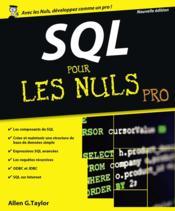 SQL pour les nuls - Couverture - Format classique