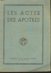 LES ACTES DES APOTRES avecLA PARAPHRASE DU R.P. DE CARRIERES. - Couverture - Format classique
