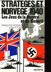 Strateges Et Norvege 1940 - Couverture - Format classique