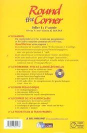 ROUND THE CORNER ; anglais ; 6ème ; palier 1, 1ère année ; manuel (édition 2006) - 4ème de couverture - Format classique