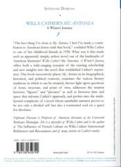 Willa Cather's my Antonia ;à winter journey - 4ème de couverture - Format classique