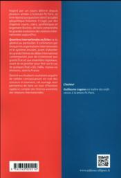 Questions internationales en fiches (3e édition) - 4ème de couverture - Format classique