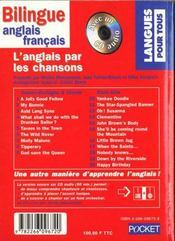 L'Anglais Par Les Chansons (Livre + Cd) - 4ème de couverture - Format classique