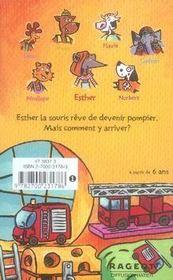 Une souris chez les pompiers - 4ème de couverture - Format classique