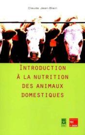 Introduction a la nutrition des animaux domestiques - Couverture - Format classique