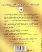 Si Le Bonheur Est Un Jeu, En Voici Les Regles ; Dix Principes Universels Pour Une Vie Epanouissante - 4ème de couverture - Format classique