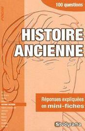 Histoire ancienne - Intérieur - Format classique
