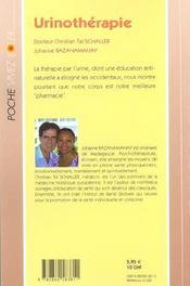 Urinotherapie - 4ème de couverture - Format classique